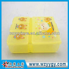 OEM plástico pequeño portátil pastillero, pastillero nuevo para niños