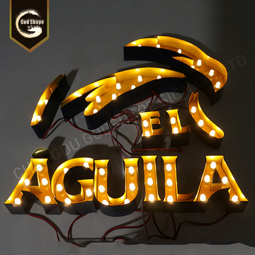 Halo Lit Metal Led Signs Stainless Steel Letter