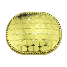 Plated imitation gold soap shape belt buckle