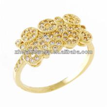 Diseño de los anillos de dedo del oro del diseño superior de la fábrica suena para las mujeres con precio