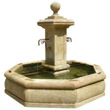 Chinesischer Lieferant Western Outdoor Garten Stein Französisch Brunnen