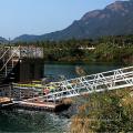 Aluminum alloy steel frame pontoon bridge customized marine passenger access gangway