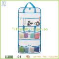 Quick Dry Grey Mesh Душевая сумка Портативный подвесной аксессуар для ванной комнаты с 8 карманами