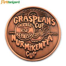 Moneda de encargo del metal del regalo de la promoción con plateado