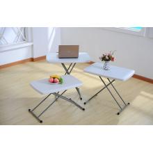 Kids Plastic Desk and Chair Set, mesa de escrever dobrável, tabela ajustável de altura ajustável, Kids Study Table and Chair Set