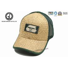 Stroh-Ineinander greifen-Baseballmütze / Stroh-Fernlastfahrer-Hut Kappe