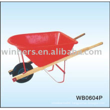 wooden handle large industrial wheelbarrow