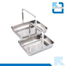 Портативный посудомоечный аппарат из нержавеющей стали и сервировочный поднос