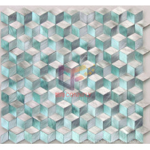 Rhomb Shape Solid Green Color Aluminium Alloy Mosaic Tile (CFA45)