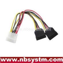 SATA Serial ATA Splitter Power Cable(1 x 5.25 to 2 x 15pin SATA Power Connector)