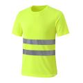 T-shirt à sécurité économique respirant et économique avec deux bandes réfléchissantes