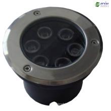 6 Вт RGB светодиодные подземный свет для сада (РЭБ-UR6W-РГБ)
