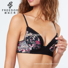 Customized sexy hot desi girl photo katrina kaif new xxx photos floral padded underwired push up bra