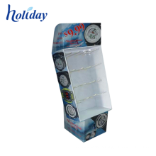 Retail Shop Corrugated Advertising Display Floor Stand For Electronic Accessory