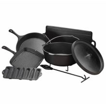 Cast Iron Camping Cookware Set Vegetable Oil Non-Stick