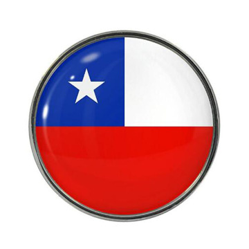 Chile National Flag Small Metal Knappar