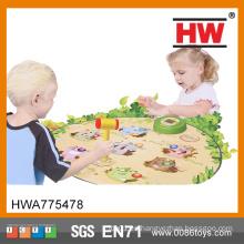 Los niños educativos plásticos vendedores calientes Whack una estera del juego del topo
