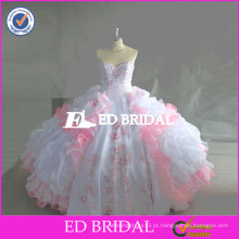 ED Bridal Real Sample Beaded Bordado Organza Cetim Quinceanera Vestidos