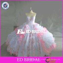 ЭД реальный образец вышивка бисером вышивка органзы атласная quinceanera платья