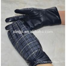 зимние женские кожаные перчатки