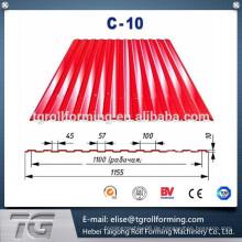Tragbare Farbe Stahl Metall Dachbahn Umformmaschine mit hochwertigem Material
