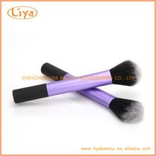 Personalizada maquillaje púrpura polvo cepillo Manufactuer