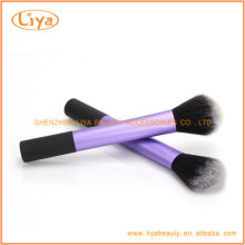 Nylon hair powder brush with aluminum ferrule