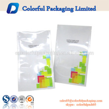 Bulk three 3 side sealed bag white with tear touch seal plastic packing