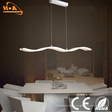 Coffee Shop Pendant Chandelier Light Wavy LED Light