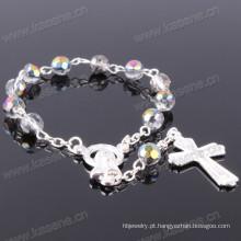 Direto da fábrica Multicolor 6 milímetros seção cristal moda pulseira