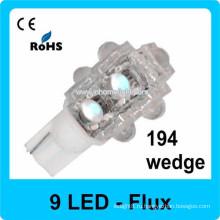 Flux автомобиль привели 9 светодиодных автомобильных ламп привели