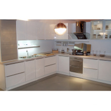 L Forme acrylique / peinture UV Meubles de cuisine de luxe à haut brillant
