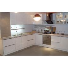 L Shape Acyrlic / UV Painting Mobília de cozinha de luxo de alto brilho