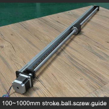 Precio de fábrica 10 a 100 cm longitud de guía cnc etapa lineal con motor paso a paso integrado