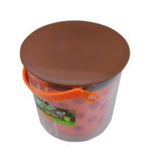 Cubo de almacenamiento de plástico creativo con mango (B05-66-15)