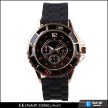 luxury watch silicone strap watch,China watch supplier