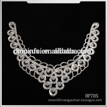 Wholesale rhinestone patch collar neck for Wedding Decoration