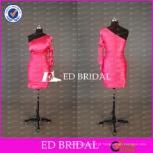 ED Bridal Sexy Short Sheath One Shoulder One Sleeve Vestido de cocktail barato em tafetá para festa 2017