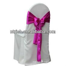 casamento cadeira poliéster cobre e faixas, CTV601, capas de cadeira por atacado com auto amarrem nas faixas