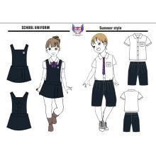 2016 OEM Hot Sale пользовательских детей школьное платье