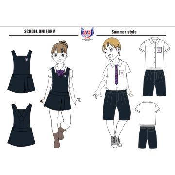 2016 OEM Hot Sale Robe d'école personnalisée pour enfants