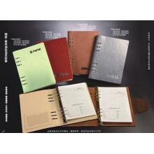 Cuaderno de espiral de metal / Agenda colorida de PU