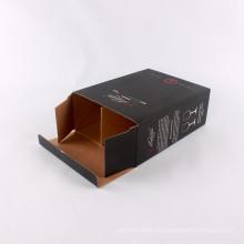 Hochwertiger Karton bedruckte quadratische Weinglasverpackungen