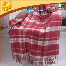 Cashmere Feeling Factory Price Woven Scottish Wholesale Wool Blankets For Home Textile