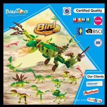 Venda quente 8 em 1 brinquedo do bloco de apartamentos do dinossauro da combinação para miúdos
