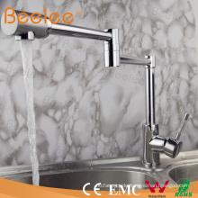 Kupfer Waschbecken Chrom Klapp Küchenarmatur Flexible Ein Loch Einhand Küche Wasser Mischbatterie