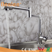 Copper Sink Chrome Folding Kitchen Faucet Flexible One Hole Single Handle Kitchen Water Mixer Tap