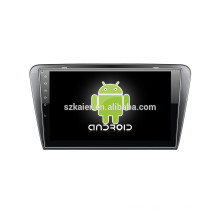 Android 4.4 Mirror-link Glonass/GPS 1080P dual core car media player for Skoda Octavia A7 with GPS/Bluetooth/TV/3G