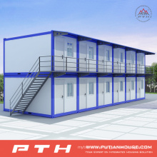 Flat Pack Prefabricated Container House for Temporary Residential Community