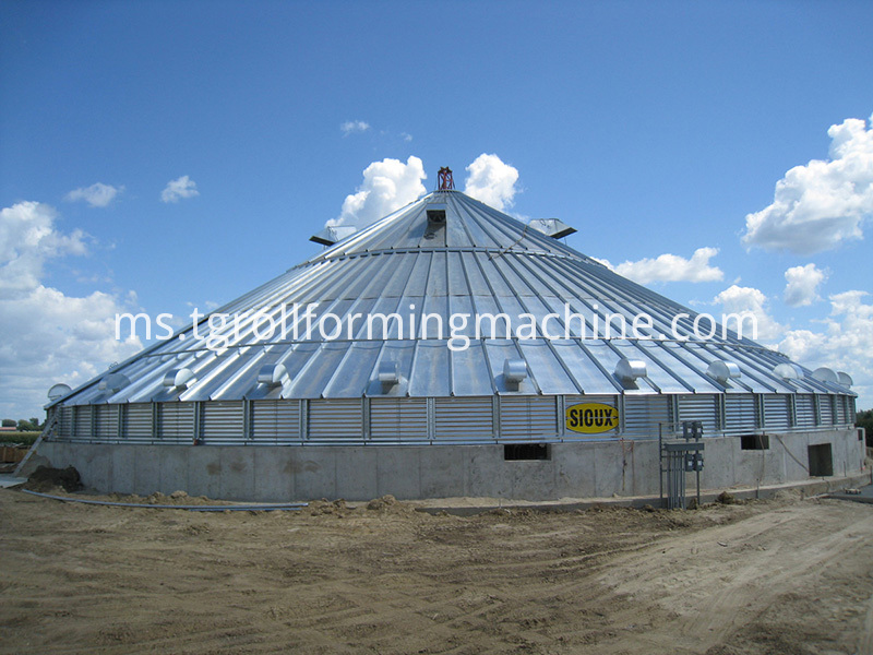 Commercial-Grain-Bin-Roof-Construction